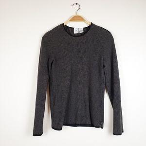 Armani Exchange • Brown & Black Striped Sweater